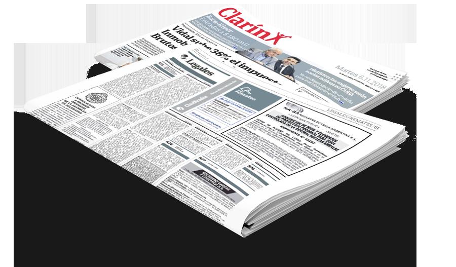 Publicar edictos en Clarin